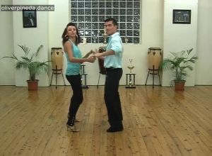 M4 Mambo basics with partner practice to music